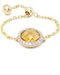 Anissa Kermiche - November Diamond, Citrine & Gold Chain Ring - Lyst