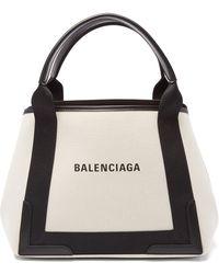 Balenciaga カバ S キャンバスバッグ - ブラック