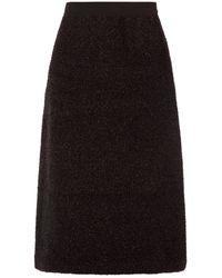 Sara Lanzi Aライン ティンセルスカート - ブラック