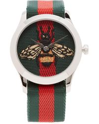 Gucci - G Timeless Web Striped Canvas Watch - Lyst