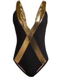 Zeus+Dione - Amorgos Metallic Trim Swimsuit - Lyst