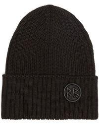 Ruslan Baginskiy Bonnet en laine mélangée à logo brodé - Noir