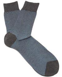 Falke - Fine Shadow Striped Socks - Lyst