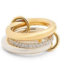Spinelli Kilcollin - Libra Diamond, Silver & Yellow Gold Ring - Lyst