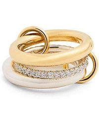 Spinelli Kilcollin - Libra Diamond, Silver & Yellow-gold Ring - Lyst