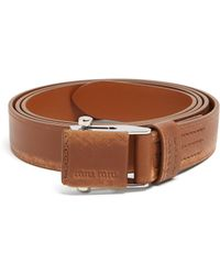 Miu Miu - Leather Belt - Lyst