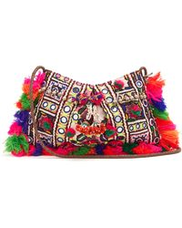 Muzungu Sisters | Half Moon Embellished Shoulder Bag | Lyst