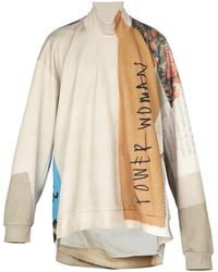 Marques'Almeida - Oversized Printed Roll Neck Sweatshirt - Lyst