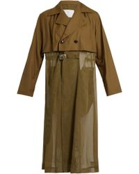 Toga - Sheer-panel Trench Coat - Lyst