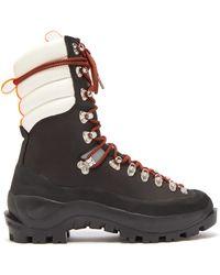 8c4755f208f Ganni Women's Alma Hiking Style Flat Boots in Black - Lyst