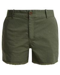 Nili Lotan - Carpenter Cotton-blend Frayed Shorts - Lyst
