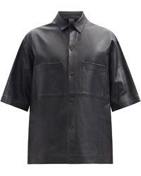 Studio Nicholson - オーバーサイズ パッチポケット レザーシャツ - Lyst