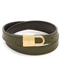 Buscemi Wraparound leather bracelet wdUsV