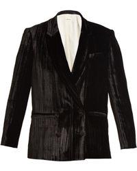 MASSCOB | Double-breasted Crinkle-velvet Blazer | Lyst