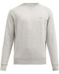 Maison Kitsuné - Fox-appliqué Cotton-jersey Sweatshirt - Lyst