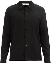 Séfr Séfr ランプア ウールブレンドシャツ - ブラック