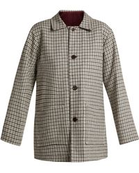 Chimala - Checked Reversible Wool Blend Jacket - Lyst