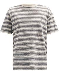 Oliver Spencer ボーダー コットンtシャツ - グレー