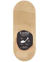 Pantherella Footlet Cotton-blend Shoe Liners - Multicolour