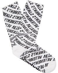Vetements - X Reebok Monogram Cotton Blend Socks - Lyst