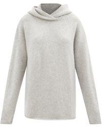 Raey Sweat-shirt à capuche oversize en cachemire - Gris