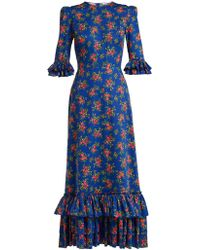 The Vampire's Wife - Cinderella Gypsy-print Cotton Dress - Lyst