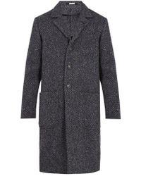 Massimo Alba - Chevron-woven Wool-blend Overcoat - Lyst