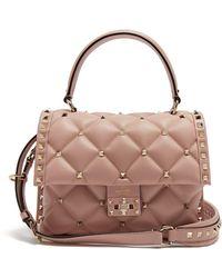 Valentino - Candystud Quilted-leather Shoulder Bag - Lyst