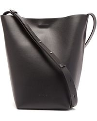 Aesther Ekme Sac Large Leather Cross-body Bag - Black