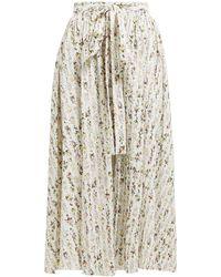 Emilia Wickstead Evelyn Floral-print Cotton-blend Wrap Skirt - Multicolour