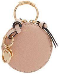 Chloé - Round Mini Leather Coin Purse - Lyst