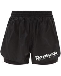 Reebok X Victoria Beckham リップストップ レイヤードショートパンツ - ブラック