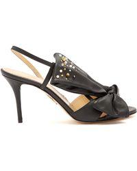 Charlotte Olympia - Georgina Bow-embellishment Leather Sandals - Lyst