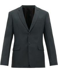 Prada Single-breasted Wool-blend Suit - Green