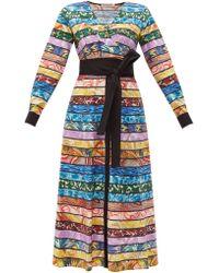 Mary Katrantzou Monroe Cotton-blend Midi Dress - Multicolour