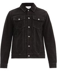 FRAME Suede Trucker Jacket - Black