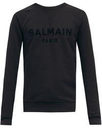 Balmain フロックロゴ コットンスウェットシャツ - マルチカラー
