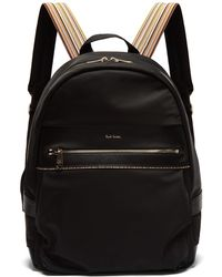 c7b5a3a5b6 Paul Smith - Artist Webbing Leather Trimmed Nylon Backpack - Lyst