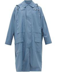 E. Tautz Oversized Wool-shell Coat - Blue