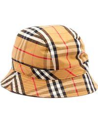 Burberry - Bob en coton à motif Vintage check - Lyst