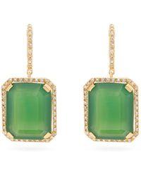 SHAY - ポートレート ダイヤモンド&グリーンオニキス 18kゴールドピアス - Lyst