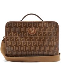 Fendi - Ff Coated-canvas Suitcase - Lyst