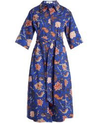 Diane von Furstenberg - Canton Print Stretch Cotton Dress - Lyst