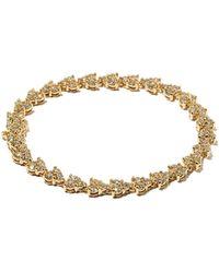 Jacquie Aiche リズ ダイヤモンド 14kゴールドテニスブレスレット - メタリック