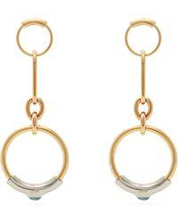Chloé - Chain Link Drop Hoop Earrings - Lyst