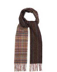Paul Smith Écharpe en laine à rayures et carreaux - Multicolore