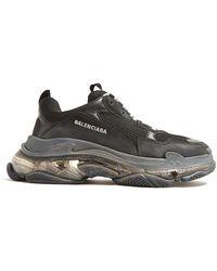 Balenciaga Triple S Nubuck Sneakers - Black