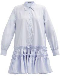 Molly Goddard イサカ コットンポプリンシャツドレス - ブルー