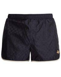 Gucci - Gg-jacquard Swim Shorts - Lyst