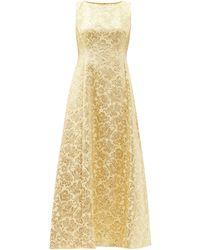 Dolce & Gabbana フローラルブロケードドレス - イエロー